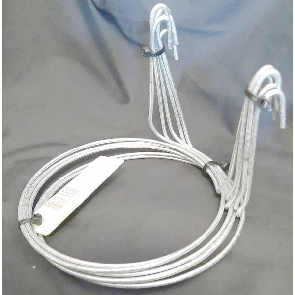 pack of five twin hook wire hanger
