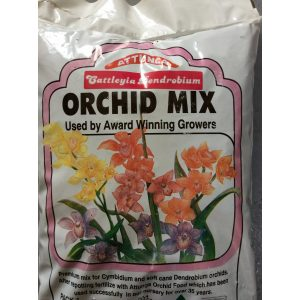 a bag of orchid mix