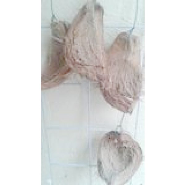 four coconut husk with wires