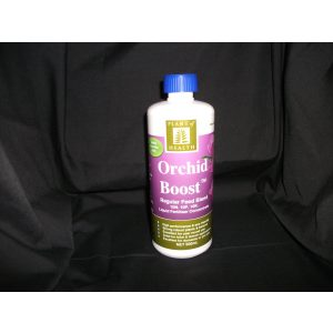 a bottle of orchid boost liquid fertiliser