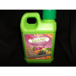 a jug of rid and rot fungicide