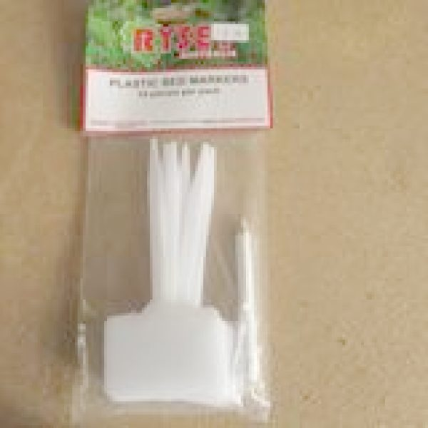 ten pieces of label plastics t shaped