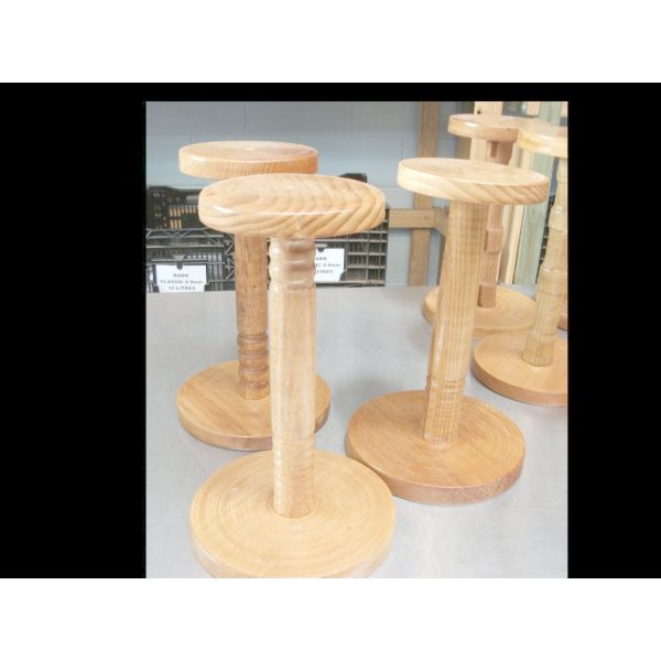 five wooden display stand